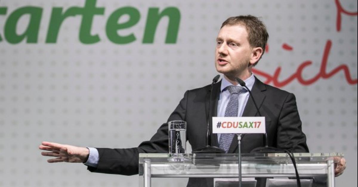 Sachsens neuer CDU-Chef Kretschmer knöpft sich Merkel in Antrittsrede vor