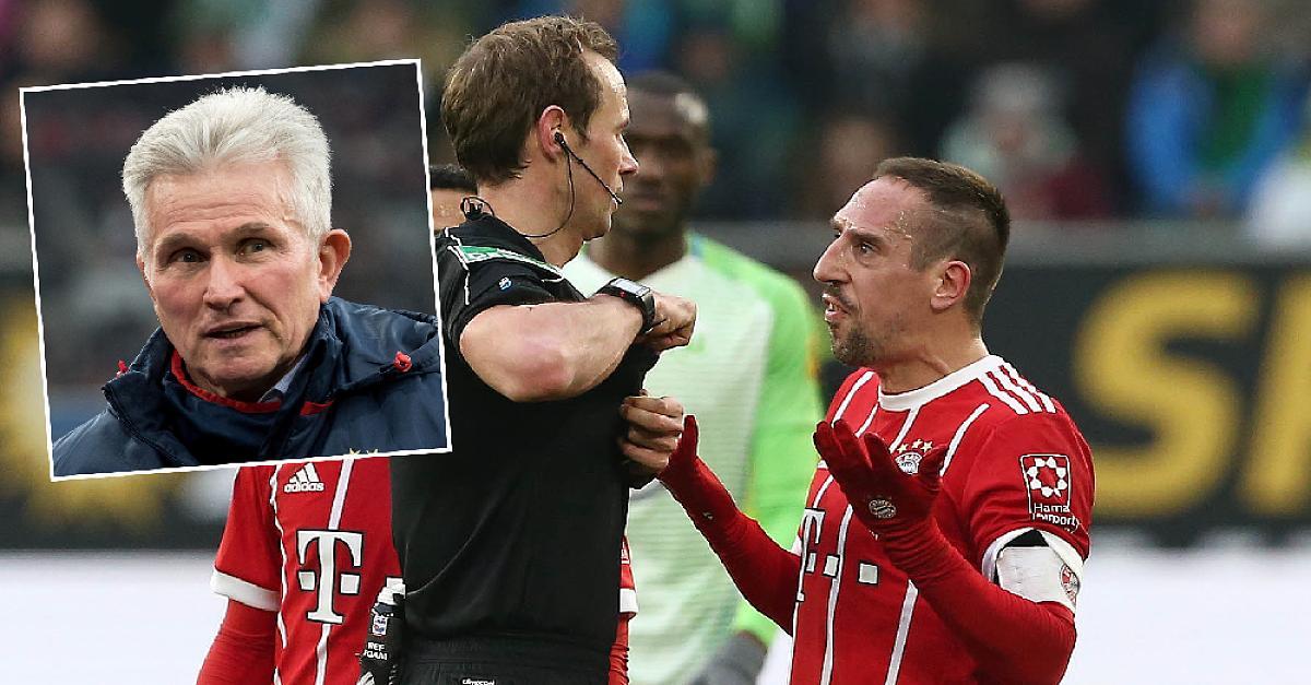 Aufregung um Ribéry-Schlag: Nach Video-Gelb mischt sich Heynckes ein