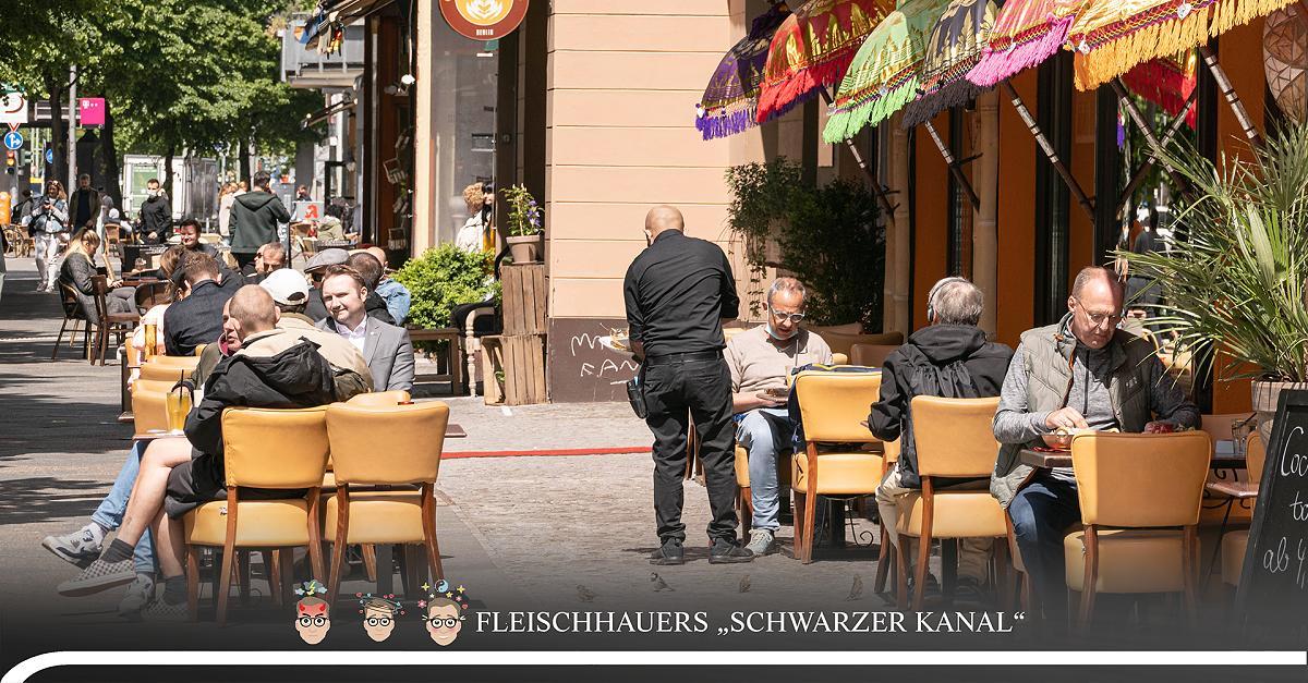 Ein Blick in zwei Berliner Restaurants reicht: Wir steuern auf eine neue Infektionswelle zu